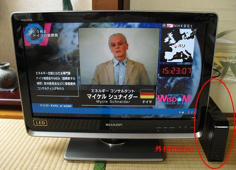 3 TVと外付けHDD