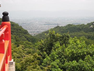 9 信貴山・本堂より大和平野