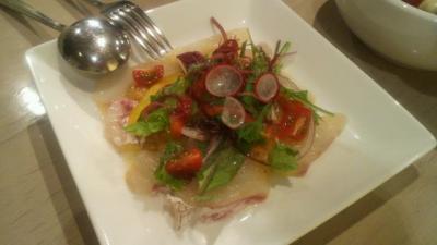 本鯛のカルパッチョサラダ仕立て