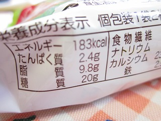 1袋 2個入りで、183 kcal