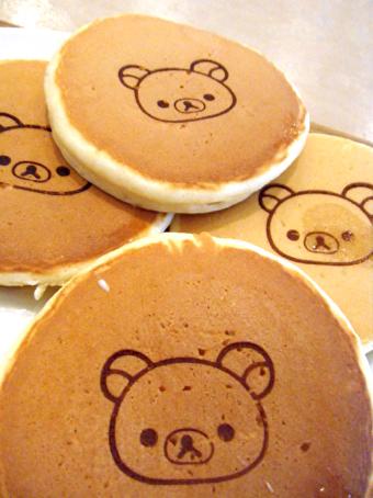 『パンケーキデイズ』のリラックマのパンケーキ