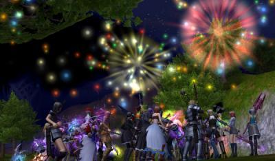 祝勝の花火