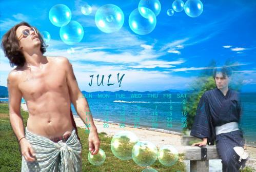 カレンダー2011年7月用ジョニー