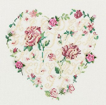 rose heart sampler