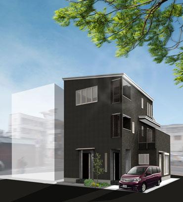 豊里6丁目M-HOUSE外観イメージパース