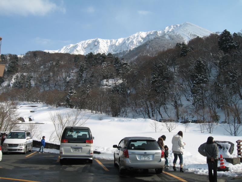 大山寺下から頂上撮影