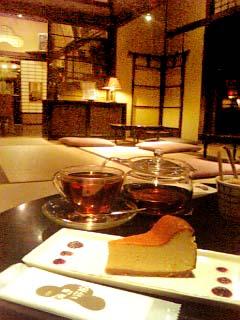 道後の町屋 チーズケーキ+アッサムオレンジペコー
