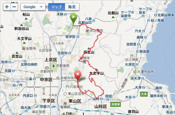 20120415 京都桜ランGarminMap