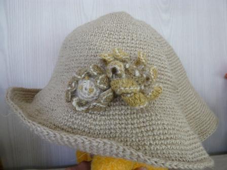 リネン帽子2