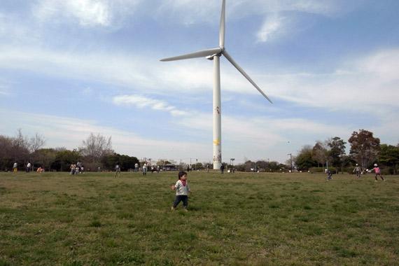 若洲海浜公園の風力発電風車