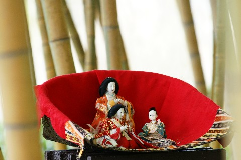 竹林の中のお雛様1
