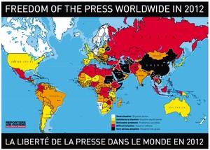 世界地図で自由度