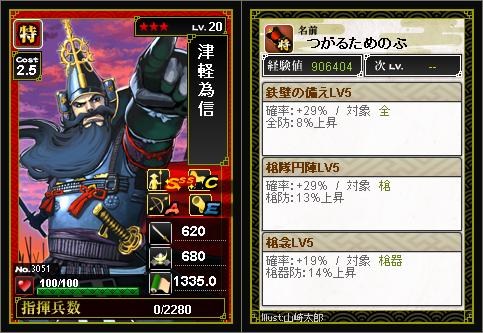 津軽為信★3(兵法振り)