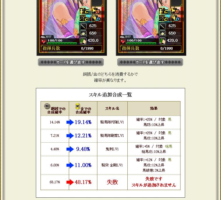 瀬名姫同カード合成
