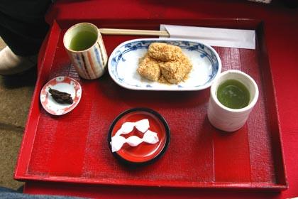 安倍川餅と玉露