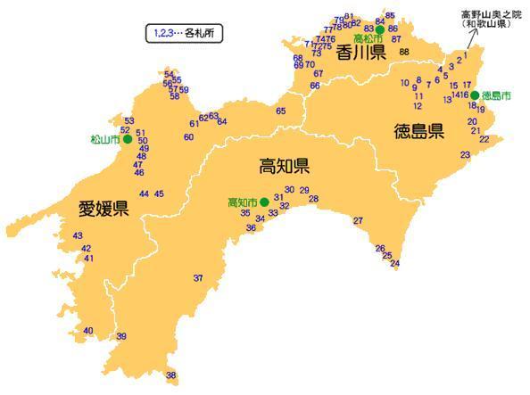 お四国参り 全体図