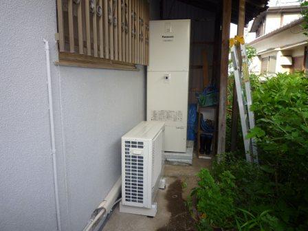 和歌山岡電器サービス岩出パナットおかリフォームエコキュート太陽光工事