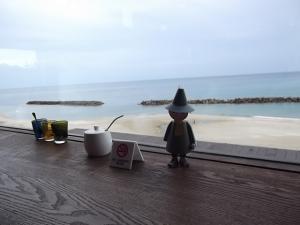 海を見ながら