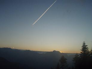 剱岳への夕日2