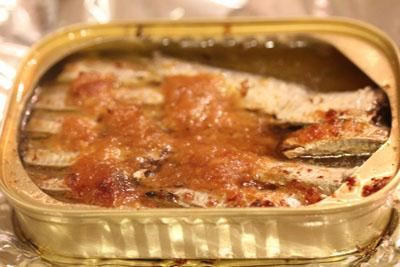 熱々味噌ガーリックサーディン2