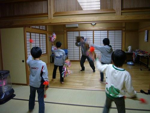 H230323安養寺、戸久獅子舞練習2