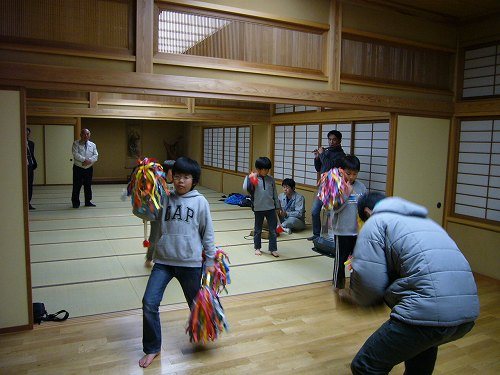 H230323安養寺、戸久獅子舞練習4