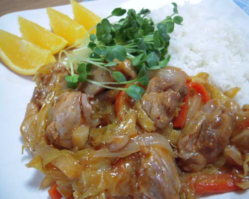 鶏の甘辛炒め煮2