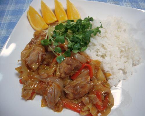 鶏の甘辛炒め煮1