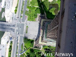 パリ エッフェル塔 頂上部