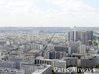 パリ エッフェル塔 自宅方面