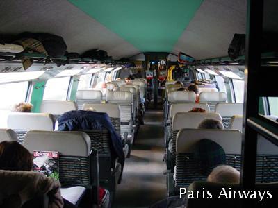 TGV Duplex 2等車