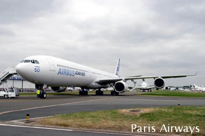 パリ航空ショー A340-600 A380