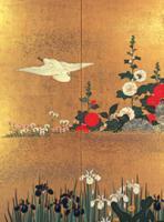 酒井抱一「四季花鳥図屏風」
