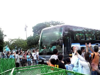 09山形バス出迎え