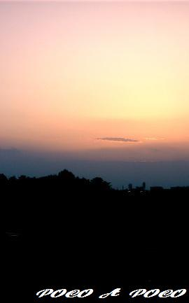 寂しい夕焼け
