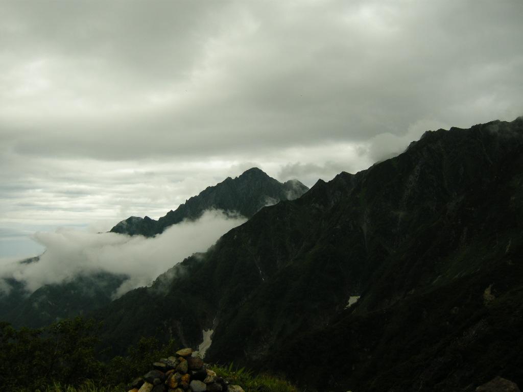 室堂乗越より劔岳を望む