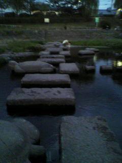 そのまま川に落下にしないように…