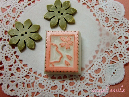 切手風!?桜のはんこ1