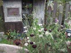 錆びた色合いが素敵な庭