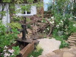 井戸のある庭
