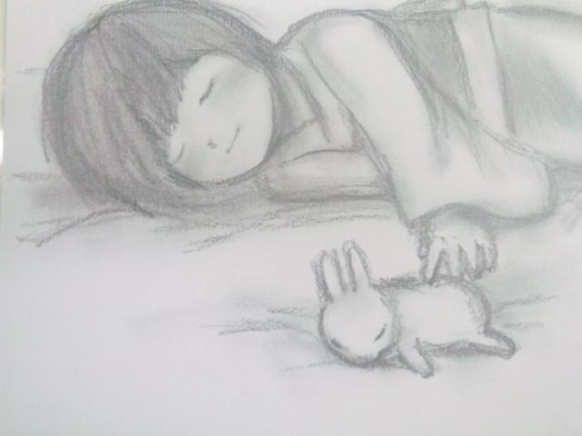 お昼寝うさぎ