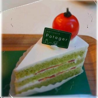 ポタジェのショートケーキ