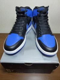 エア ジョーダン 1st 黒×ブルー