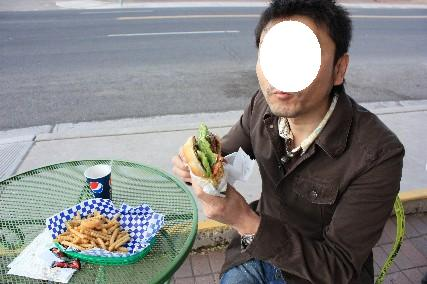 ホワンさんのハンバーガー