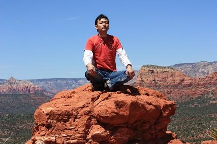ベルロック南岩上瞑想ヒトシ