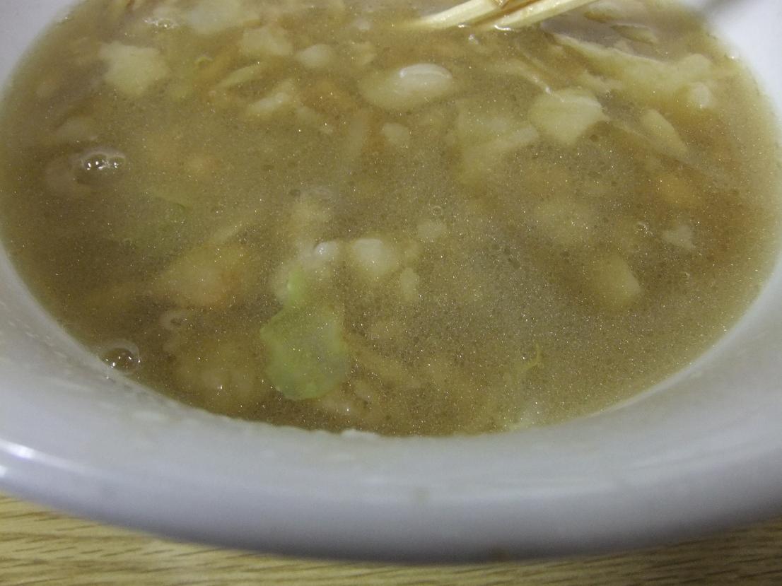 ラーメン二郎 栃木街道店:スープ 11.08.26