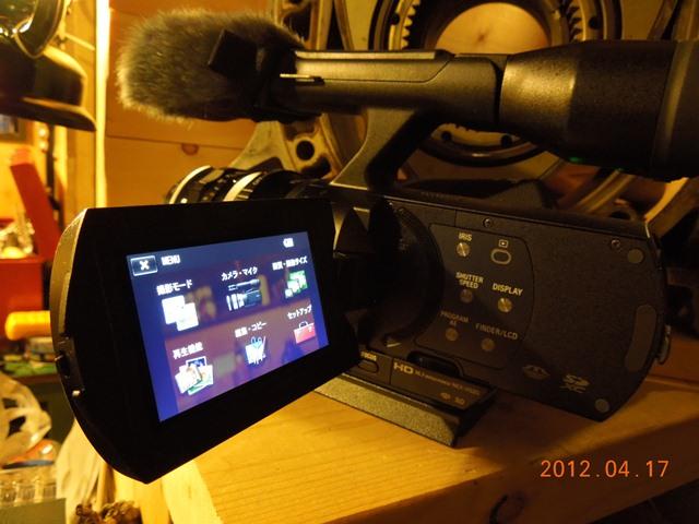 NEX-VG20基本的な操作画面
