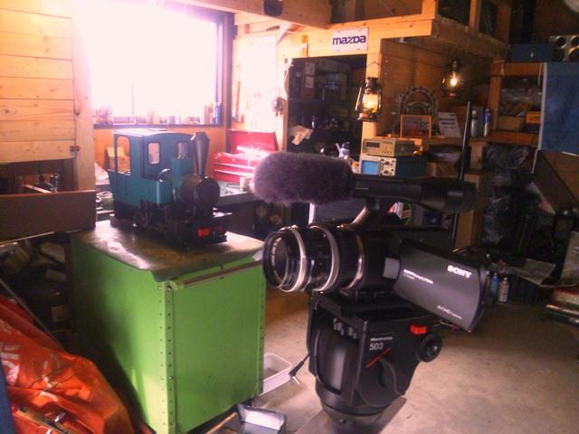 自作4mクレーン、ジブアームに載ったNEX-VG20