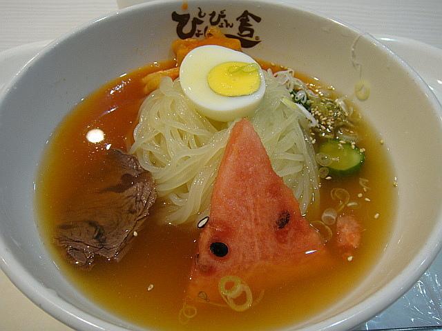 冷麺(中辛)@ぴょんぴょん舎