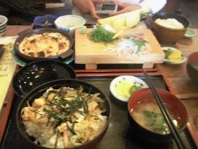 サザエ丼と金目G定食